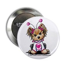 "Love Bug Yorkie 2.25"" Button (10 pack)"