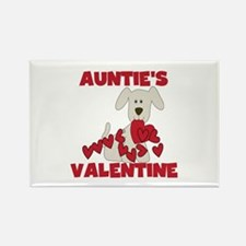 Dog Auntie's Valentine Rectangle Magnet
