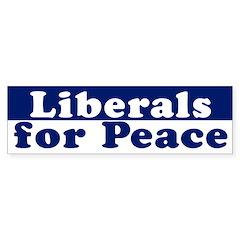 Liberals for Peace (bumper sticker)