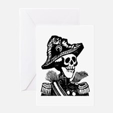 Calavera Porfirista Greeting Card
