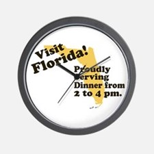 Florida, Proudly Serving Dinn Wall Clock