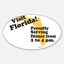 Florida, Proudly Serving Dinn Oval Decal
