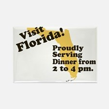 Florida, Proudly Serving Dinn Rectangle Magnet