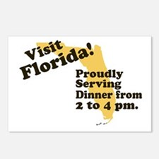 Florida, Proudly Serving Dinn Postcards (Package o