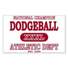 Dodgeball Rectangle Decal