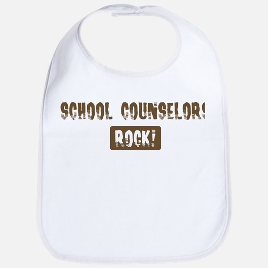 School Counselors Rocks Bib