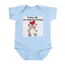 Pucker Up Valentine Infant Bodysuit