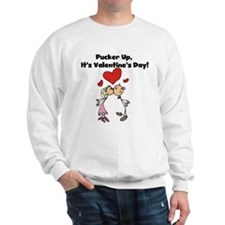 Pucker Up Valentine Sweatshirt