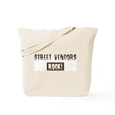 Street Vendors Rocks Tote Bag
