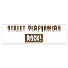 Street Performers Rocks Bumper Bumper Sticker