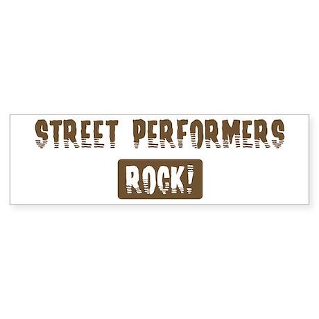 Street Performers Rocks Bumper Sticker