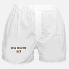 Speech Therapists Rocks Boxer Shorts