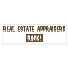 Real Estate Appraisers Rocks Bumper Bumper Sticker
