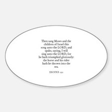 EXODUS 15:1 Oval Decal