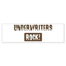 Underwriters Rocks Bumper Bumper Sticker