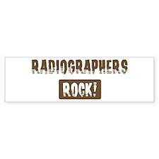Radiographers Rocks Bumper Bumper Sticker