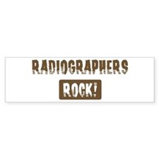 Radiographers Rocks Bumper Car Sticker