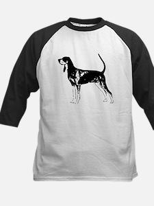 Black and Tan Coonhound Kids Baseball Jersey