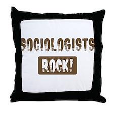Sociologists Rocks Throw Pillow