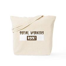 Social Workers Rocks Tote Bag