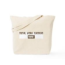 Social Work Teachers Rocks Tote Bag