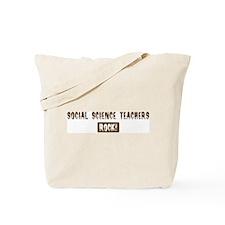 Social Science Teachers Rocks Tote Bag