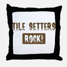 Tile Setters Rocks Throw Pillow