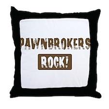Pawnbrokers Rocks Throw Pillow