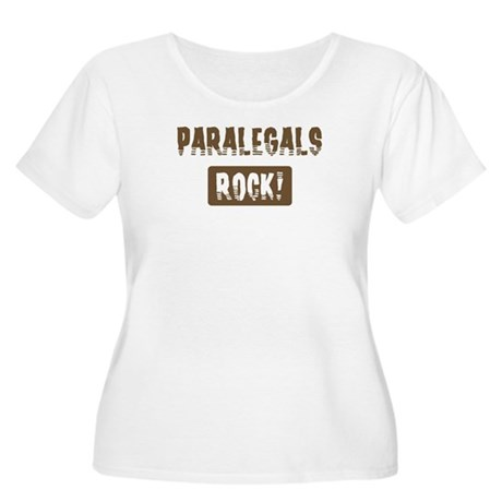 Paralegals Rocks Women's Plus Size Scoop Neck T-Sh