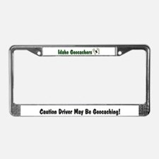 Funny Geocacher License Plate Frame