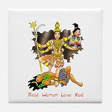 Real Women Love Kali Tile Coaster