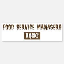 Food Service Managers Rocks Bumper Bumper Bumper Sticker