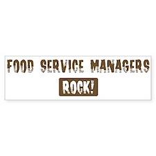 Food Service Managers Rocks Bumper Bumper Sticker