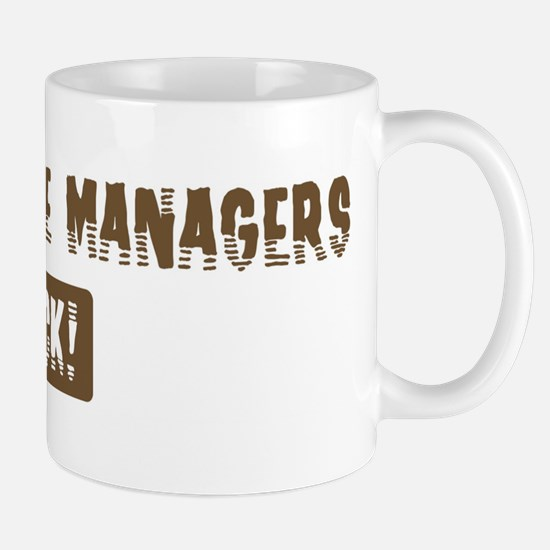 Food Service Managers Rocks Mug