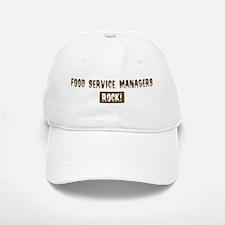 Food Service Managers Rocks Baseball Baseball Cap