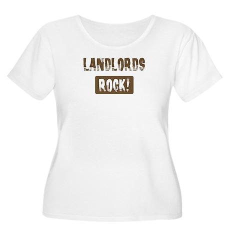 Landlords Rocks Women's Plus Size Scoop Neck T-Shi