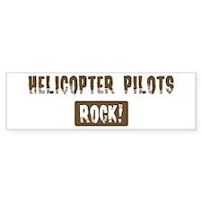 Helicopter Pilots Rocks Bumper Bumper Sticker