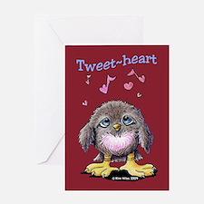 Tweet-heart Bird Greeting Card