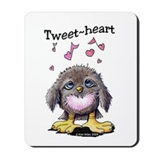 Tweet-heart Bird Mousepad