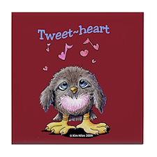 Tweet-heart Bird Tile Coaster