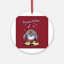 Tweet-heart Bird Ornament (Round)