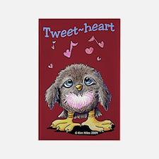 Tweet-heart Bird Rectangle Magnet
