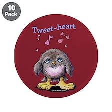 """Tweet-heart Bird 3.5"""" Button (10 pack)"""