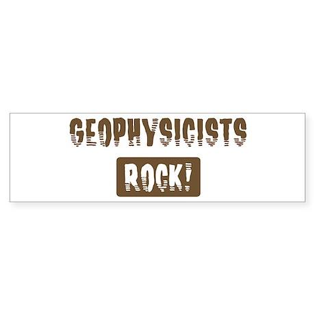 Geophysicists Rocks Bumper Sticker