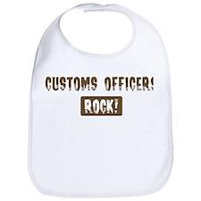 Customs Officers Rocks Bib