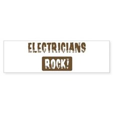 Electricians Rocks Bumper Bumper Sticker