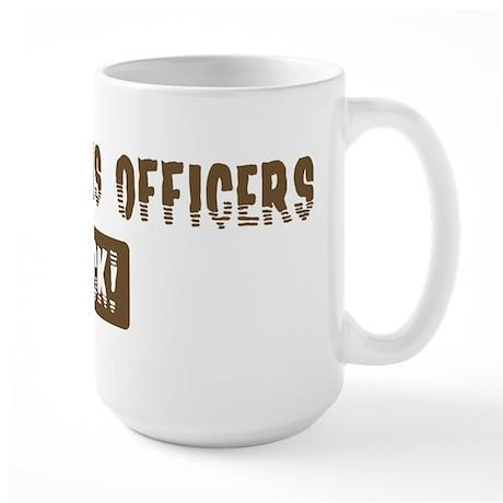 Corrections Officers Rocks Large Mug