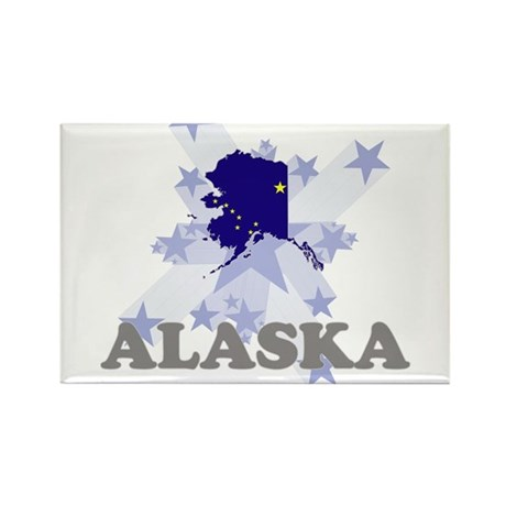 All Star Alaska Rectangle Magnet (10 pack)