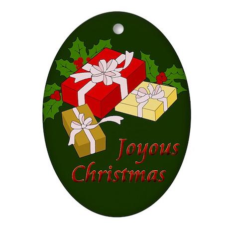 Christmas Presents Oval Ornament