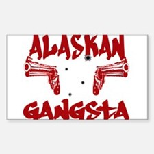 Alaskan Gangsta Rectangle Decal